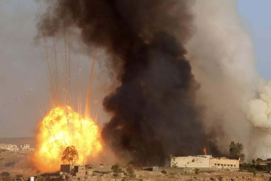 حمله جنگندههای ائتلاف متجاوزان سعودی به صنعا