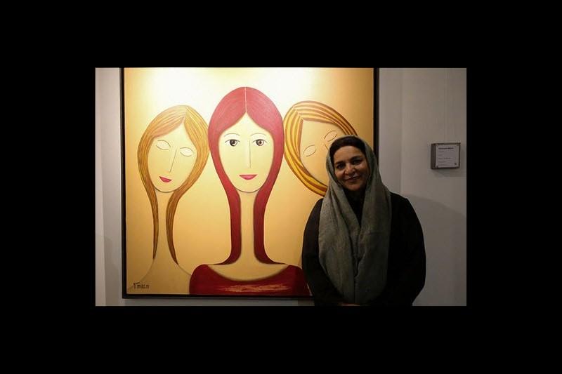 آثار نقاشی  کپی شده خانم کارگردان بازهم جنجال آفرید+تصاویر