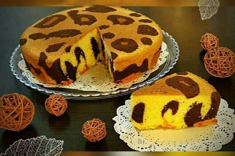 طرز تهیه کیک پلنگى+طرز تهیه