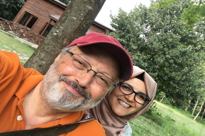 نامزد جمال خاشقجی، در آغوش  رئیس مجلس نمایندگان آمریکا+تصویر