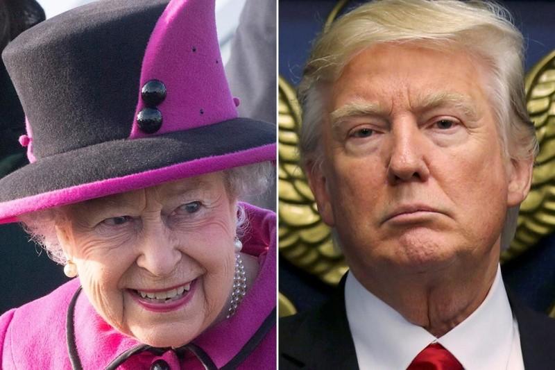 رفتار گستاخانه ترامپ در مواجهه با ملکه انگلستان+تصویر