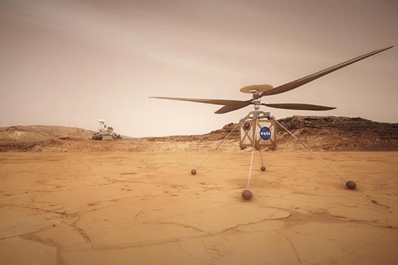 ناسا هلیکوپتر مخصوص سفر در مریخ خود را مورد آزمایش قرار داد