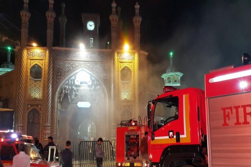مهار شدن آتشسوزی در حرم حضرت معصومه (س)+فیلم