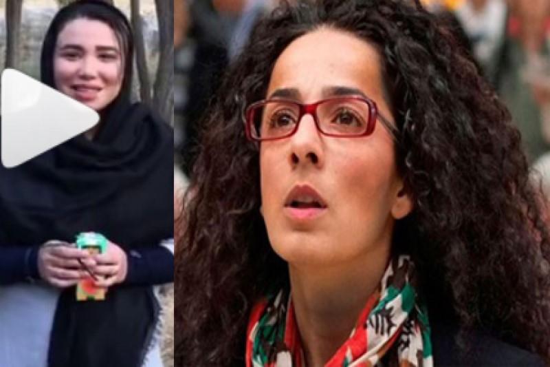 نخستین بانوی شعبدهباز ایرانی  خطاب به  خبرنگار معاند و ضدانقلاب+فیلم