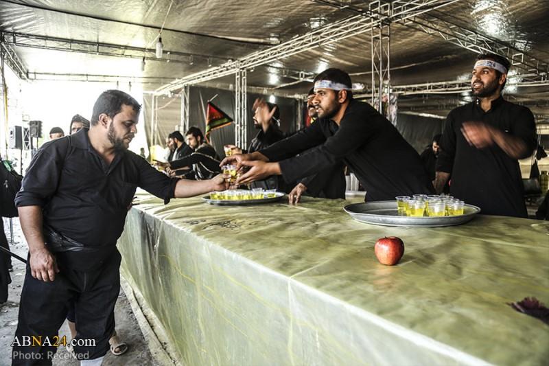 خوزستان: با استقرار 400 موکب خدمترسانی مواکب در مرز شلمچه آغاز شد
