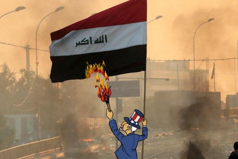 کاریکاتور| نقش آمریکا در فتنه عراق