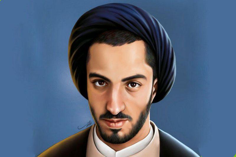 شهید نواب صفوی در قاب نقاشی