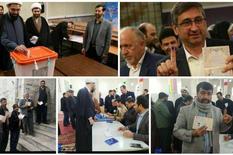 حضور اقشار مختلف مردم استان همدان در ساعات اولیه رای گیری