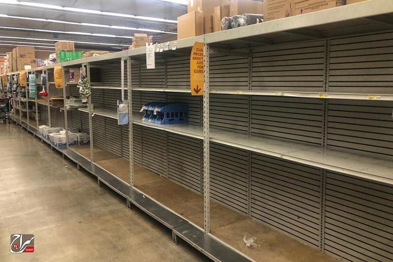 خالی شدن فروشگاههای لس آنجلس از مواد بهداشتی