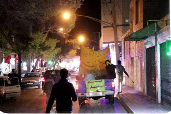 عکس| ضدعفونی معابر شهری اصفهان