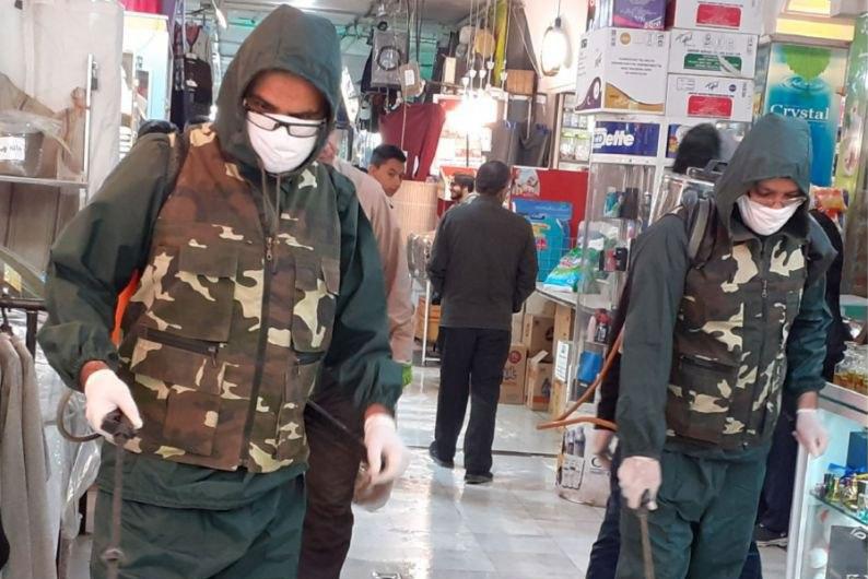 عکس| ضدعفونی  بازار بزرگ صفا اصفهان