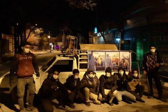 عکس| ضدعفونی منطقه رهنان اصفهان