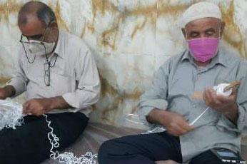 عکس| کارگاه جهادی تولید ماسک شهر دالکی بوشهر