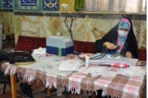 عکس| کارگاه تولید ماسک مسجد جامع رجایی شهر