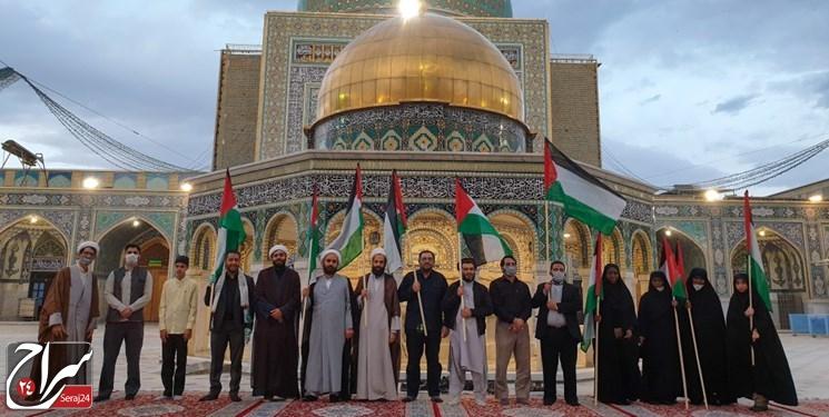 راهپیمایی الی بیت المقدس در مشهد برگزار شد