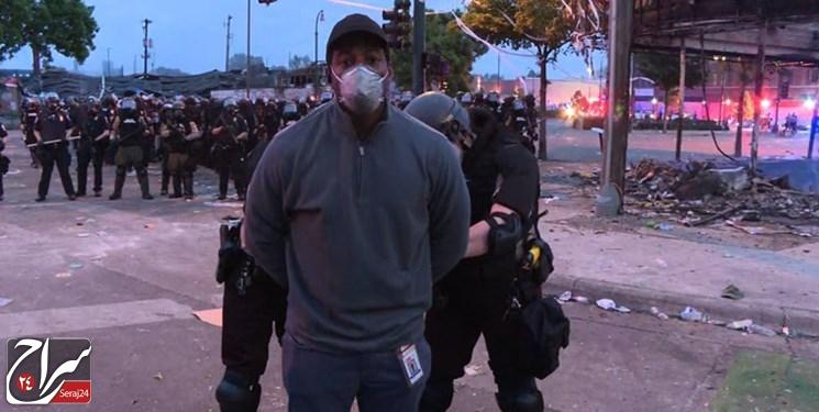 تشدید حملات به خبرنگاران همزمان با گسترش اعتراضات در آمریکا