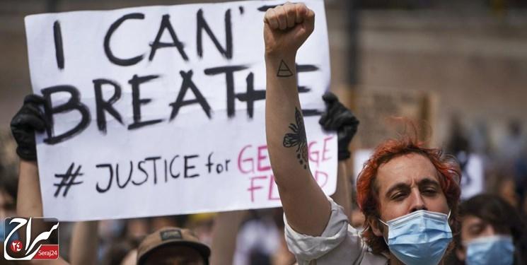 تظاهرات 10 هزار نفری سوئیسیها علیه نژادپرستی در آمریکا