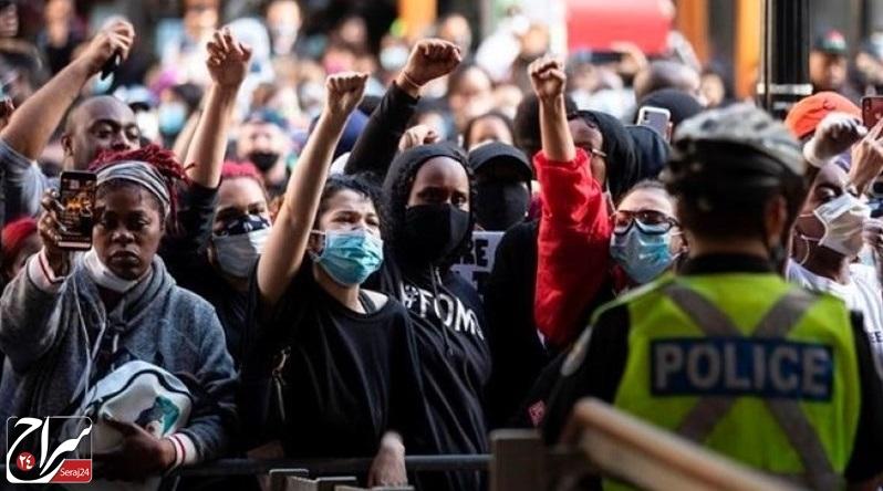 بخشی از اعتراضات ضد نژادپرستی آمریکا /فیلم