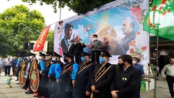 تشییع پیکر شهید مدافع حرم «سعید کمالی» در ساری برگزار شد