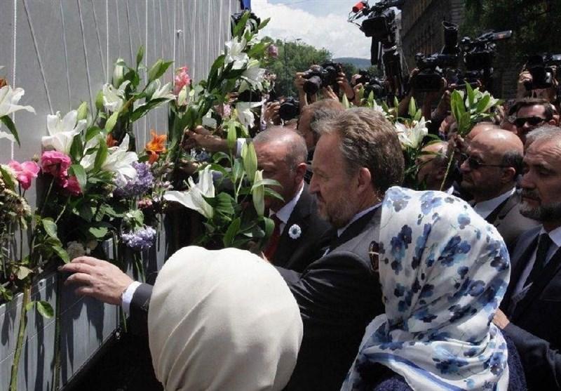 """پخش زنده """"راهپیمایی صلح سارایوو بوسنی"""" از شبکه خارجی تلویزیون"""