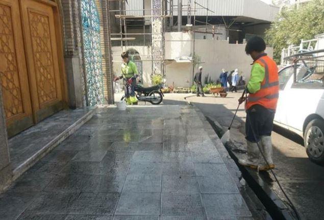 مرمت و تنظیف گنبد امامزاده صالح (ع)  پس از 8 سال
