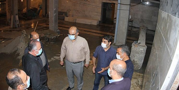 تلاش برای تکمیل زیرزمین مسجد ارک پیش از آغاز ماه محرم