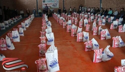 توزیع بستههای معیشتی به نیت شهید سلیمانی