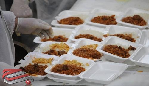 توزیع 2500 پرس غذای گرم و 60 بسته معیشتی در کرج