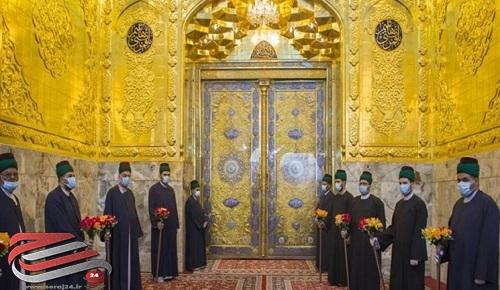 ایوان طلای حرم حضرت ابوالفضل العباس (ع) رونمایی شد