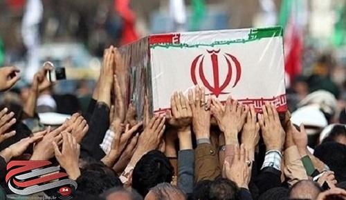 پیکر مرزبان شهید «میلاد صیادی» در اسلامآباد غرب تشییع شد