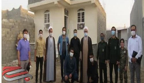 جهادگران لامرد برای خانواده نیازمند خانه ساختند