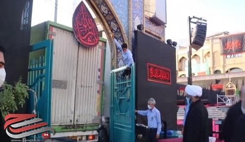 کمک مؤمنانه محرم از حرم امامزاده صالح(ع) آغاز شد