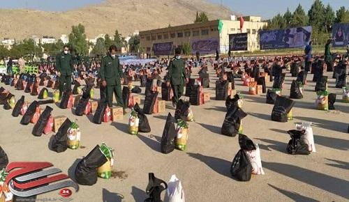 توزیع ۱۸ هزار بسته معیشتی توسط سپاه ثارالله(ع) شیراز