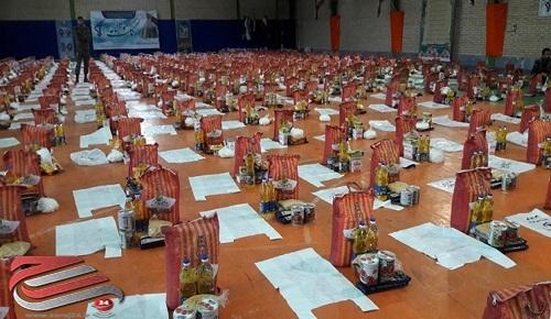 توزیع 1500 بسته معیشتی در شهرستان پارس آباد