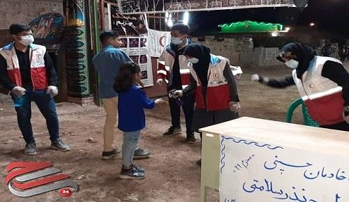 اجرای طرح «نذر سلامت همراه با خادمان حسینی هلال» در کرمان