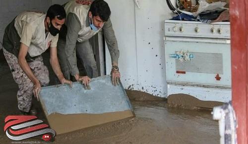 گروههای جهادی به کمک روستاهای سیلزده بیرجند رفتند