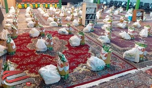 توزیع بستههای معیشتی مسجد جوادیه رفسنجان بین نیازمندان