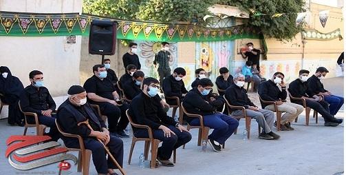 برگزاری عزاداری در کوچه شهید محسن حججی