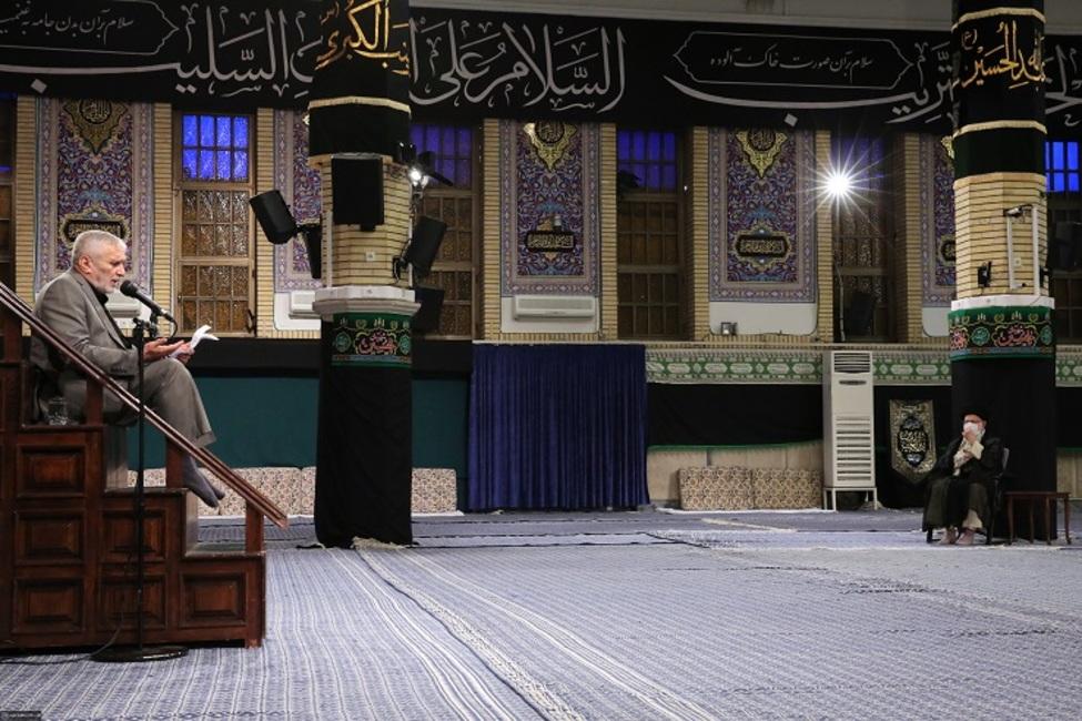 مراسم عزاداری شهادت امام سجاد (ع) با حضور رهبر انقلاب