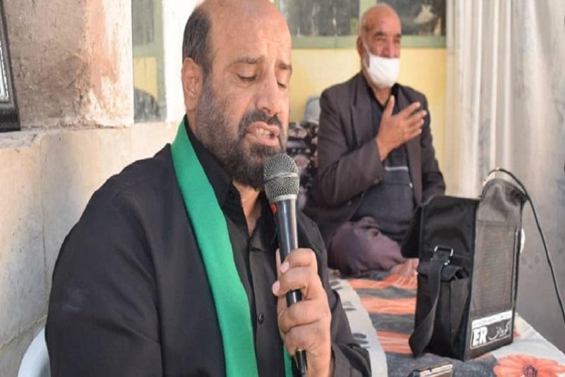 مراسم روضه خوانی در منزل شهید دلیجانی برگزار شد