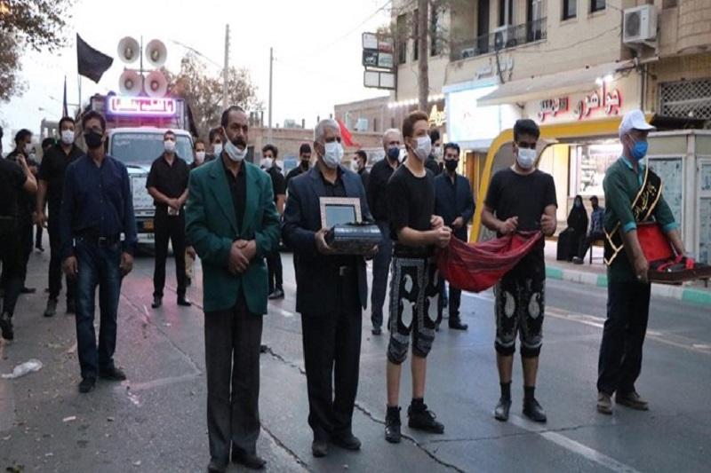 راهاندازی کاروان گلریزان موکب خاتمالانبیاء رفسنجان در شب اربعین