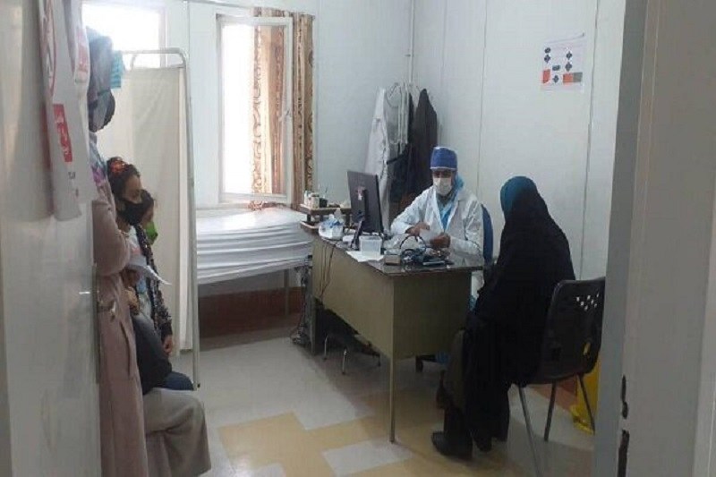 برپایی موکب سلامت توسط یک گروه جهادی
