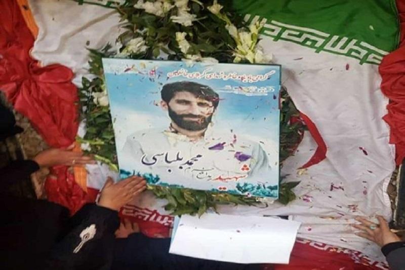پیکر شهید بلباسی در خانهای به رنگ وطن آرام گرفت
