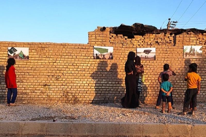 برپایی نمایشگاه عکس روستایی «حنین الاربعین» در خوزستان