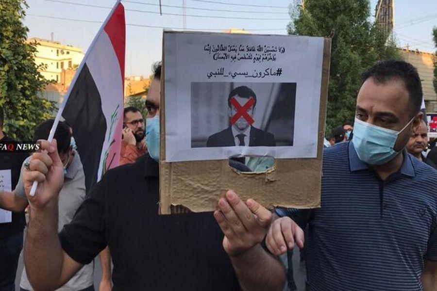خشم مردم عراق از  «امانوئل ماکرون»