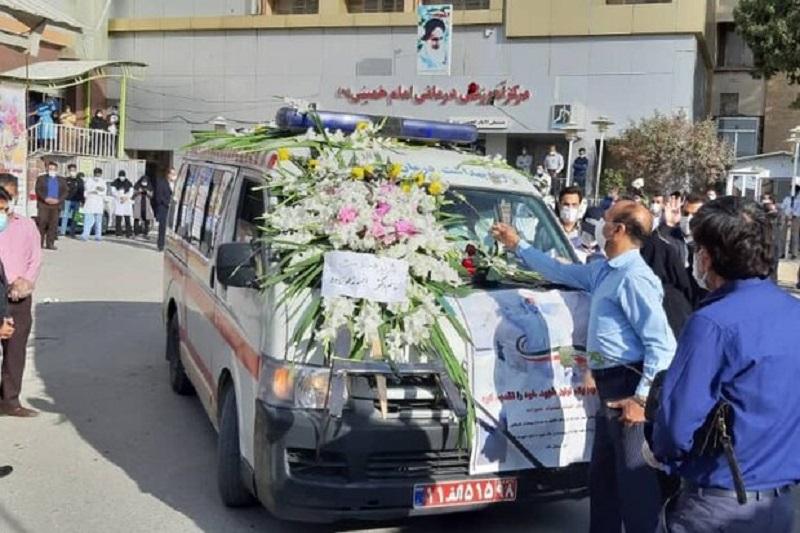 وداع با اولین شهید مدافع سلامت در استان ایلام