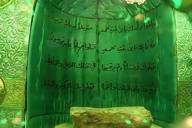 سنگی که میزبان سر سیدالشهدا(ع) بود+عکس