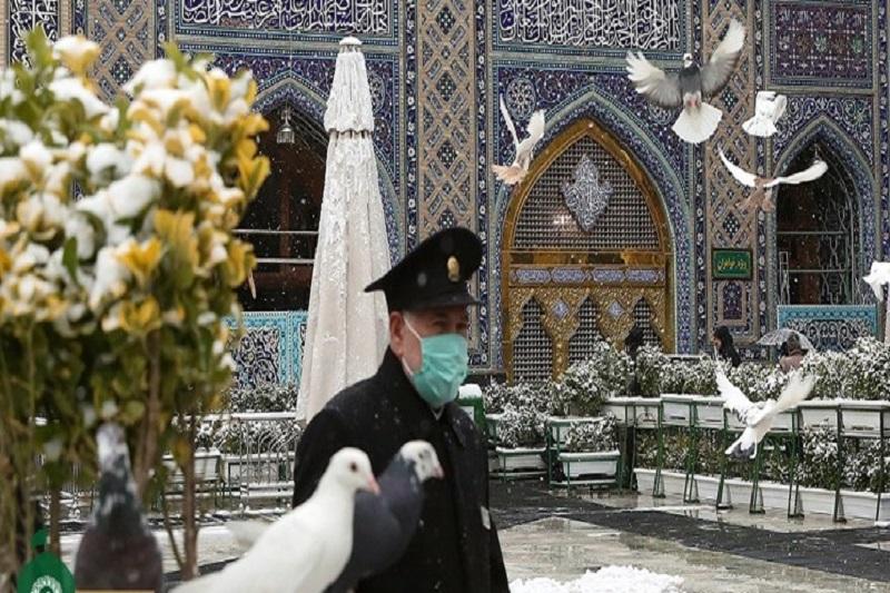 برف در بهشت؛ حال و هوای برفی حرم مطهر رضوی