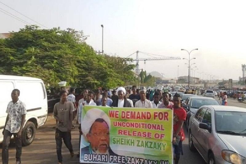 هوداران شیخ زکزاکی در پایتخت نیجریه تظاهرات کردند