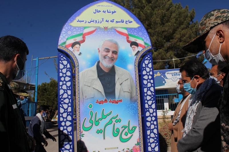 رونمایی از المانهای یادبود شهید حاج قاسم سلیمانی در کرمان